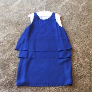 Gorgeous royal blue sleeveless tiered dress
